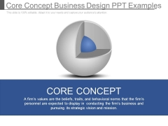 Core Concept Business Design Ppt Examples