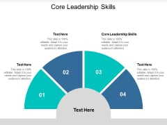 Core Leadership Skills Ppt PowerPoint Presentation Styles Template Cpb