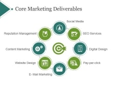Core Marketing Deliverables Template 2 Ppt PowerPoint Presentation Microsoft
