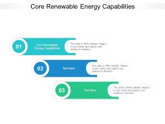 Core Renewable Energy Capabilities Ppt PowerPoint Presentation Gallery Grid Cpb Pdf