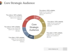 Core Strategic Audience Slide Template Ppt PowerPoint Presentation Outline