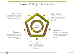 Core Strategic Audience Template 1 Ppt PowerPoint Presentation Slides Infographic Template