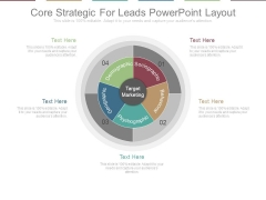 Core Strategic For Leads Powerpoint Layout