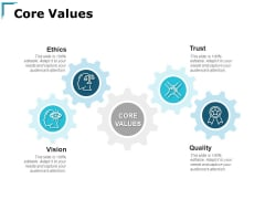 Core Values Ethics Trust Ppt PowerPoint Presentation Ideas Inspiration