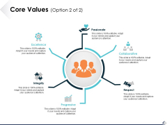 Core Values Option 2 Of 2 Ppt PowerPoint Presentation Infographic Template Show