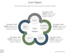 Core Values Ppt PowerPoint Presentation Background Designs