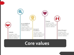 Core Values Ppt PowerPoint Presentation Layouts Microsoft