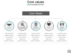 Core Values Ppt PowerPoint Presentation Model Sample
