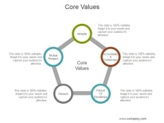 Core Values Ppt PowerPoint Presentation Outline