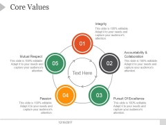 Core Values Ppt PowerPoint Presentation Tips
