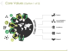 Core Values Template 1 Ppt PowerPoint Presentation Professional Summary