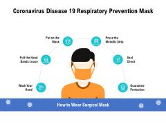 Coronavirus Disease 19 Respiratory Prevention Mask Ppt PowerPoint Presentation Inspiration Clipart Images PDF