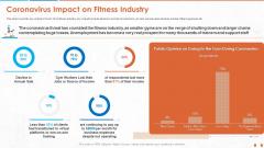Coronavirus Impact On Fitness Industry Sample PDF
