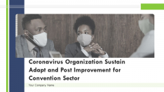 Coronavirus Organization Sustain Adapt And Post Improvement For Convention Sector Ppt PowerPoint Presentation Complete Deck With Slides