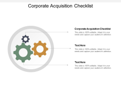 Corporate Acquisition Checklist Ppt PowerPoint Presentation Icon Inspiration Cpb