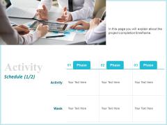 Corporate Activity Schedule Ppt Show Clipart PDF