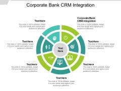 Corporate Bank CRM Integration Ppt PowerPoint Presentation Design Templates Cpb