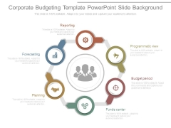 Corporate Budgeting Template Powerpoint Slide Background
