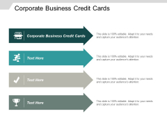 Corporate Business Credit Cards Ppt PowerPoint Presentation Show Good