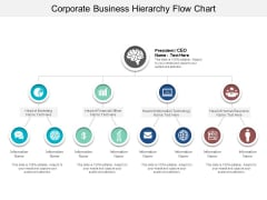 Corporate Business Hierarchy Flow Chart Ppt PowerPoint Presentation File Designs Download