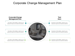 Corporate Change Management Plan Ppt PowerPoint Presentation Ideas Background Image Cpb