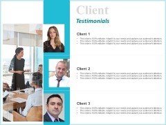 Corporate Client Testimonials Ppt Gallery Outfit PDF