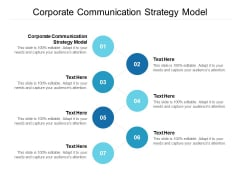 Corporate Communication Strategy Model Ppt PowerPoint Presentation Inspiration Portfolio Cpb