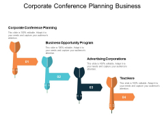 Corporate Conference Planning Business Opportunity Program Advertising Corporations Ppt PowerPoint Presentation Gallery Files