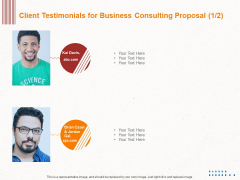 Corporate Consulting Client Testimonials For Business Consulting Proposal Introduction PDF