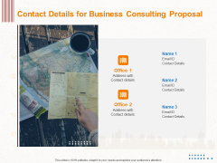 Corporate Consulting Contact Details For Business Consulting Proposal Guidelines PDF