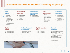 Corporate Consulting Terms And Conditions For Business Consulting Proposal General Portrait PDF