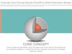 Corporate Core Concept Sample Powerpoint Slide Presentation Sample