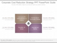 Corporate Cost Reduction Strategy Ppt Powerpoint Guide