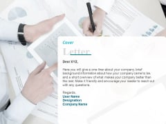 Corporate Cover Letter Ppt Summary Graphics PDF