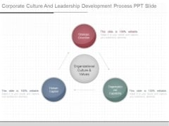 Corporate Culture And Leadership Development Process Ppt Slide