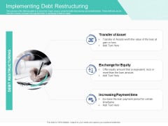Corporate Debt Refinancing And Restructuring Implementing Debt Restructuring Template PDF