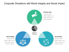Corporate Divestiture With Moral Integrity And Social Impact Ppt PowerPoint Presentation Gallery Icon PDF