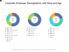 Corporate Employee Demographics With Race And Age Ppt PowerPoint Presentation File Clipart PDF