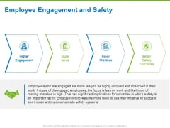 Corporate Employee Engagement Employee Engagement And Safety Ppt File Design Inspiration PDF