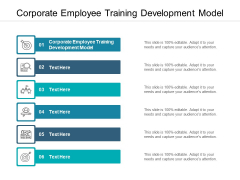 Corporate Employee Training Development Model Ppt PowerPoint Presentation Ideas Design Templates Cpb