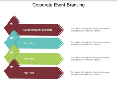 Corporate Event Branding Ppt Powerpoint Presentation Gallery Shapes Cpb