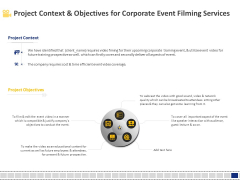 Corporate Event Filming Project Context And Objectives For Corporate Event Filming Services Professional PDF