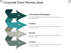 Corporate Event Planning Ideas Ppt PowerPoint Presentation Gallery Introduction Cpb