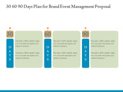 Corporate Event Planning Management 30 60 90 Days Plan For Brand Event Management Proposal Mockup PDF