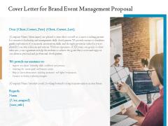 Corporate Event Planning Management Cover Letter For Brand Event Management Proposal Demonstration PDF