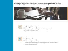 Corporate Event Planning Management Strategic Approach To Brand Event Management Proposal Professional PDF