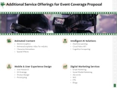 Corporate Event Videography Proposal Additional Service Offerings For Event Coverage Proposal Pictures PDF