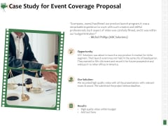Corporate Event Videography Proposal Case Study For Event Coverage Proposal Summary PDF