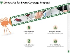 Corporate Event Videography Proposal Contact Us For Event Coverage Proposal Introduction PDF