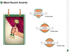 Corporate Event Videography Proposal Most Recent Awards Ideas PDF